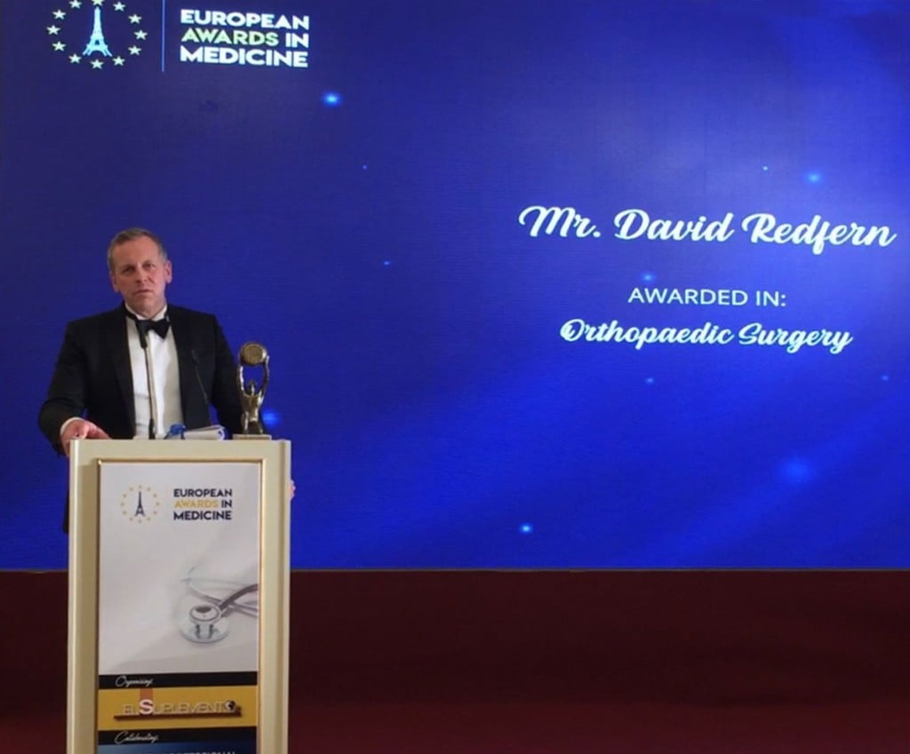European Awards in Medicine 2019 MR. DAVID REDFERN Orthopaedic Surgery